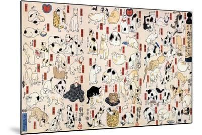 53 Stations of the Tokaido-Kuniyoshi Utagawa-Mounted Art Print