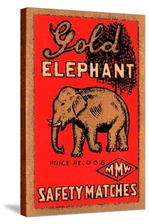 Golden Elephant--Stretched Canvas Print