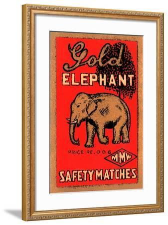 Golden Elephant--Framed Art Print
