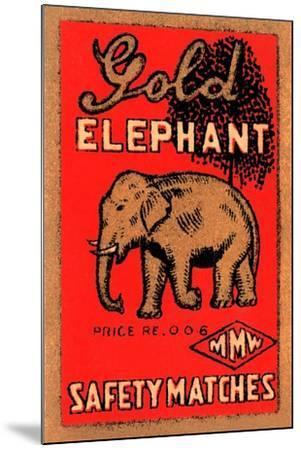 Golden Elephant--Mounted Art Print