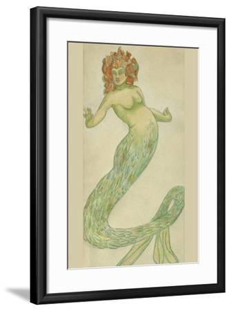 Mermaid-Hannes Bok-Framed Art Print