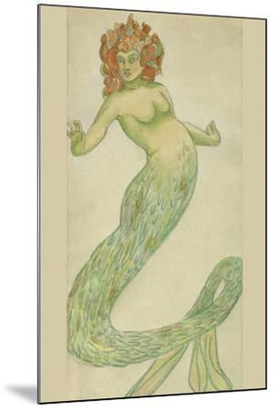 Mermaid-Hannes Bok-Mounted Art Print