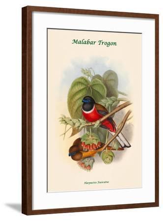 Harpactes Fasicatus-John Gould-Framed Art Print