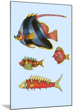 Rarest Curiosities of the Fish of the Indies-Louis Renard-Mounted Art Print