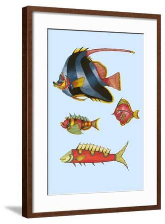 Rarest Curiosities of the Fish of the Indies-Louis Renard-Framed Art Print