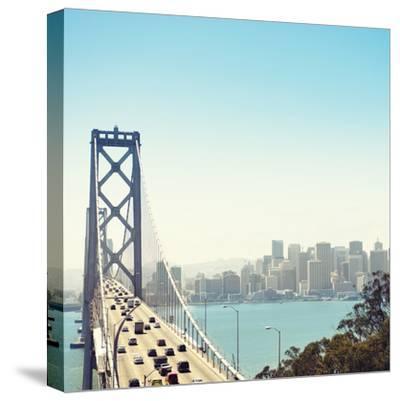 San Francisco Bay Bridge and Rush Hour Traffic-franckreporter-Stretched Canvas Print
