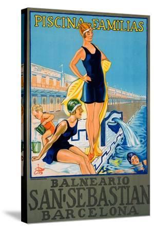 Balneario San Sebastian Barcelona Poster--Stretched Canvas Print
