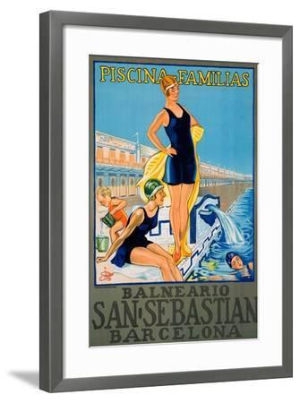 Balneario San Sebastian Barcelona Poster--Framed Giclee Print