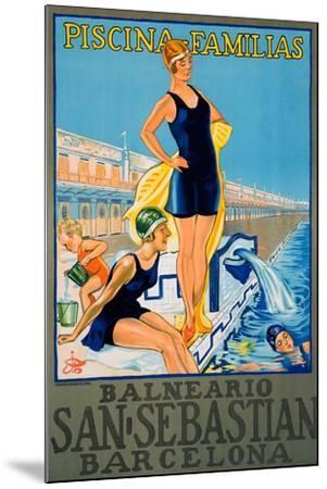 Balneario San Sebastian Barcelona Poster--Mounted Giclee Print