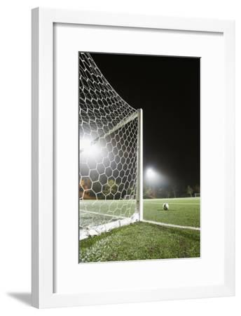 Usa, California, Ladera Ranch, Football in Front of Goal-Erik Isakson-Framed Premium Photographic Print
