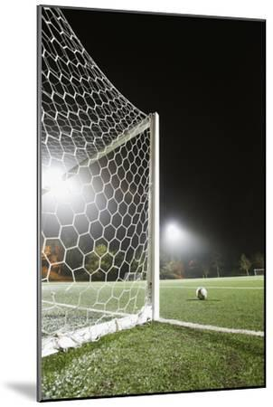 Usa, California, Ladera Ranch, Football in Front of Goal-Erik Isakson-Mounted Premium Photographic Print