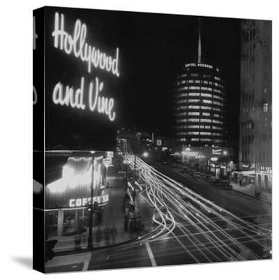 Hollywood and Vine--Stretched Canvas Print