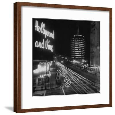 Hollywood and Vine--Framed Premium Photographic Print