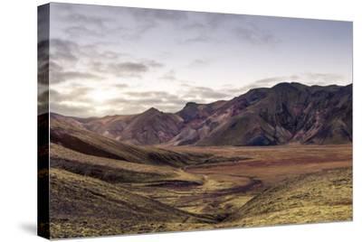 Iceland Landmannalaugar Autumn Colors-spreephoto.de-Stretched Canvas Print
