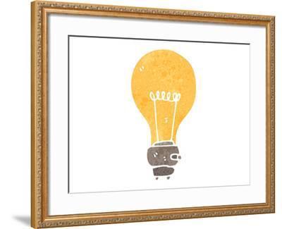 Retro Cartoon Light Bulb Symbol Art Print by lineartestpilot | Art com