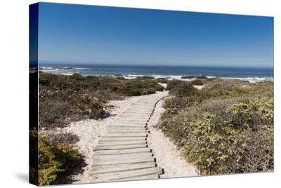 Boardwalk Leading towards the Beach-Eric Audras-Stretched Canvas Print