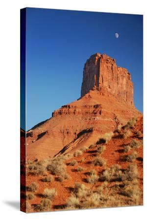Moon over Moab-moosebitedesign-Stretched Canvas Print