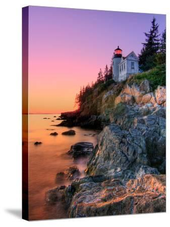 Pastel Bass Harbor Lighthouse-Kevin A Scherer-Stretched Canvas Print