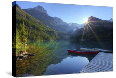 Lake O'hara Morning-photosbygar photography-Stretched Canvas Print