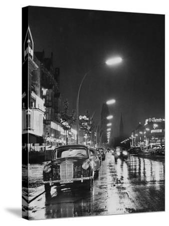 Kurfurstendamm at Night-Pictorial Parade-Stretched Canvas Print