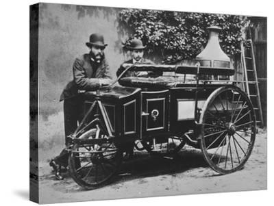 Steam Wagon-Hulton Archive-Stretched Canvas Print