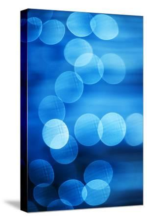 Abstract Blue Spots of Light-Brian Stablyk-Stretched Canvas Print