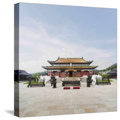 Tianmen Temple in Tianmen Forest National Park-Ed Freeman-Stretched Canvas Print