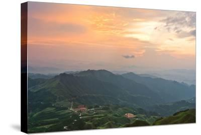 Vietnam Landscape at Sunset-Long Hoang-Stretched Canvas Print