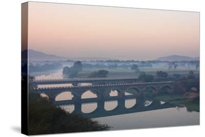 Indryani River-Photograph by Nilanjan Sasmal-Stretched Canvas Print
