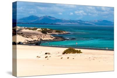 Atlantic Green and Blue Sea-Photo by A.Vallecillos-Stretched Canvas Print