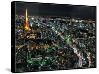 Tokyo Night View-Mikedie-Stretched Canvas Print