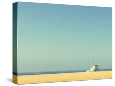 Life Guard Tower-Denise Taylor-Stretched Canvas Print