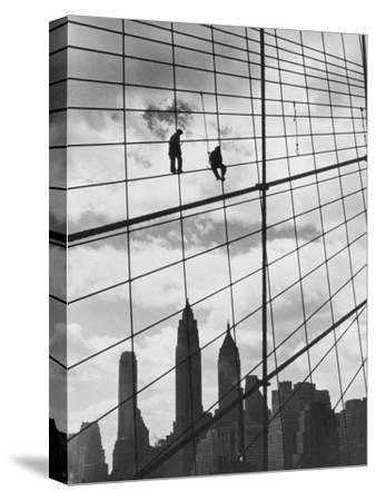 Brooklyn Bridge Workers-Archive Photos-Stretched Canvas Print