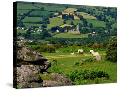 Widecombe in the Moor, Dartmoor, National Park, Devon, England, Uk. Widecombe in the Moor is Situat-Philip Fenton Lrps-Stretched Canvas Print