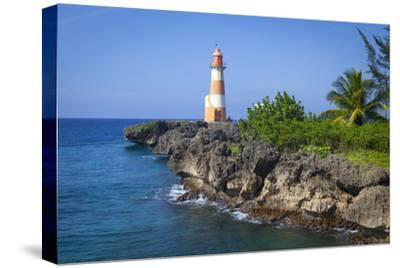 The Picturesque Folly Point Lighthouse, Jamaica-Doug Pearson-Stretched Canvas Print