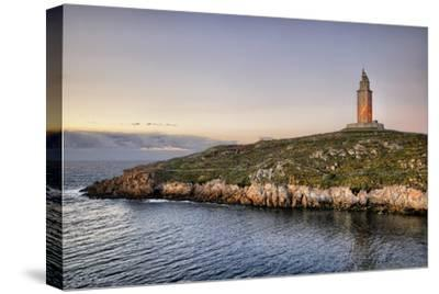 Tower of Hercules-Carlos Fernandez-Stretched Canvas Print