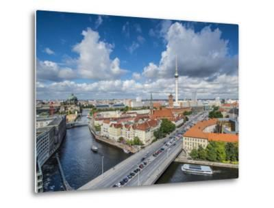 Berlin, Germany Viewed from above the Spree River.-SeanPavonePhoto-Metal Print