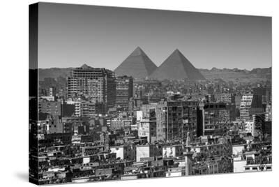 Cityscape of Cairo, Pyramids, Egypt-Anik Messier-Stretched Canvas Print