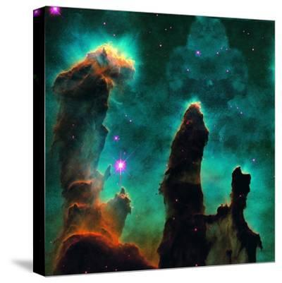 Gaseous Pillars in the Eagle Nebula-Digital Vision.-Stretched Canvas Print