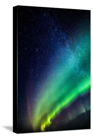 Milky Way and Aurora Borealis, Iceland-Arctic-Images-Stretched Canvas Print