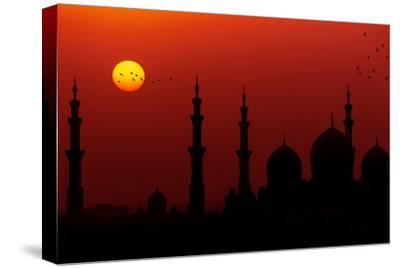 Sunrise at Sheikh Zayed Grand Mosque-Figurative Speech-Stretched Canvas Print