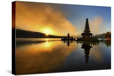 Pura Ulun Danu Bratan Water Temple-by toonman-Stretched Canvas Print