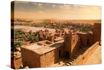 Mud Constructions in Ait Benhaddou.-Artur Debat-Stretched Canvas Print