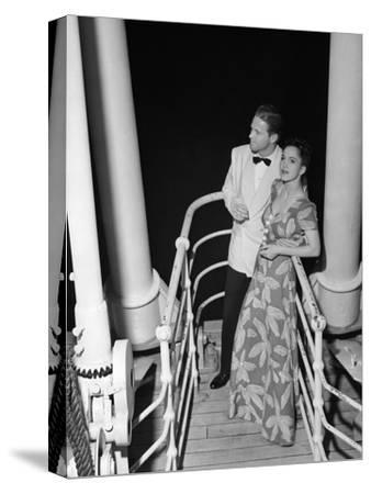 Couple in Evening Wear-George Marks-Stretched Canvas Print
