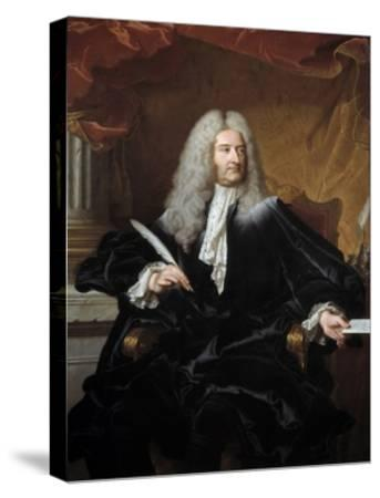 Portrait of Germain Louis De Chauvelin by Hyacinthe Rigaud--Stretched Canvas Print