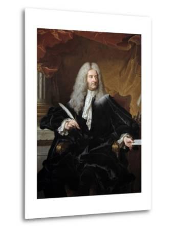 Portrait of Germain Louis De Chauvelin by Hyacinthe Rigaud--Metal Print