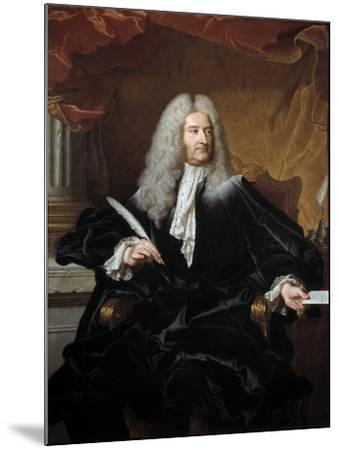 Portrait of Germain Louis De Chauvelin by Hyacinthe Rigaud--Mounted Giclee Print