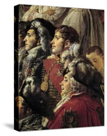 Detail of the Consecration of the Emperor Napoleon I by Jacques Louis David--Stretched Canvas Print