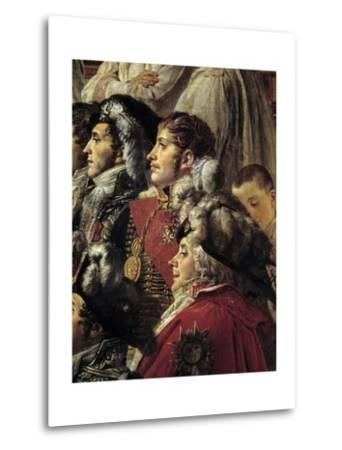 Detail of the Consecration of the Emperor Napoleon I by Jacques Louis David--Metal Print