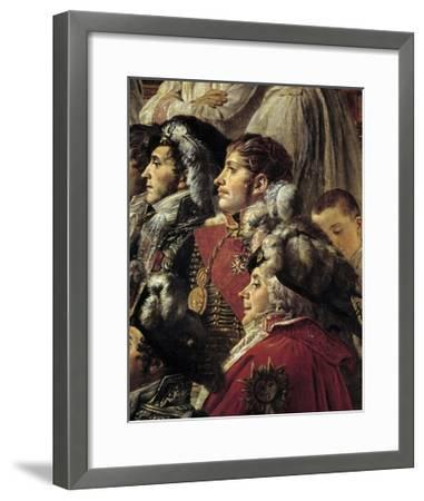 Detail of the Consecration of the Emperor Napoleon I by Jacques Louis David--Framed Giclee Print